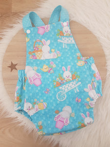 Size 00 Baby Romper - Easter Bunny / Blue