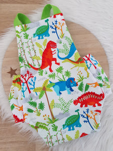 DINOSAUR print - Size 1 Baby Romper, 1st Birthday / Cake Smash Outfit