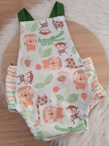 PASTEL JUNGLE - Size 0 Baby Romper, 1st Birthday / Cake Smash Outfit