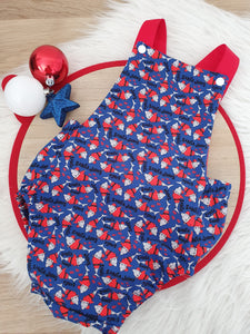 SANTA JAWS Christmas Romper - Size 2 Baby Christmas Outfit