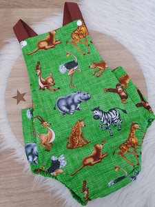 JUNGLE - Size 1 Baby Romper, 1st Birthday / Cake Smash Outfit