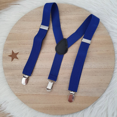 Dark Blue Baby / Kids Adjustable Suspenders