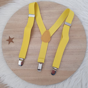 YELLOW Baby / Kids Adjustable Suspenders