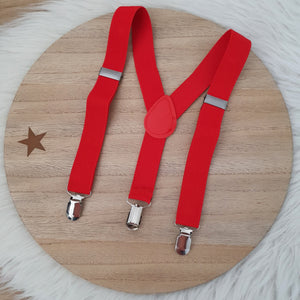RED Baby / Kids Adjustable Suspenders
