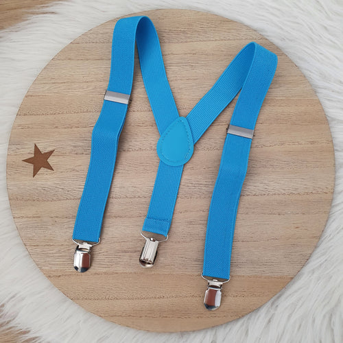 Light Blue Baby / Kids Adjustable Suspenders