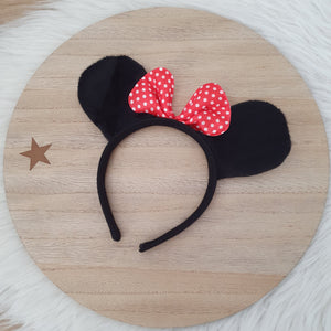Mouse Ears Headband with Bow