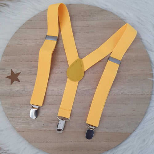 WARM YELLOW Baby / Kids Adjustable Suspenders