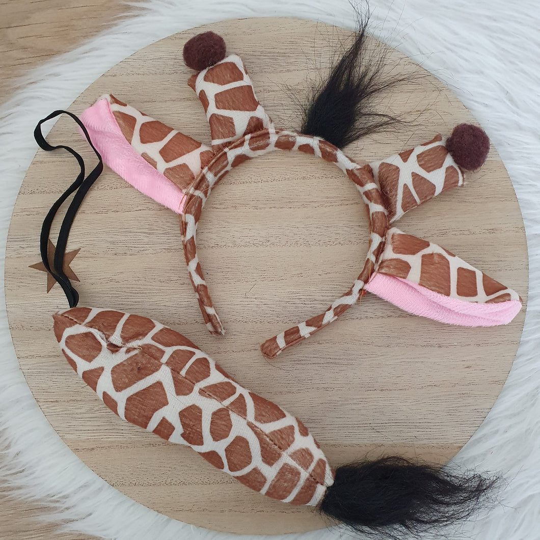 Giraffe Headband & Tail Set