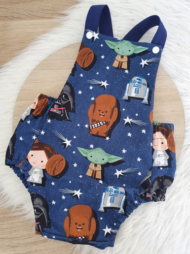 BABY STAR WARS print Romper - Size 2 Baby / Toddler / Child Outfit