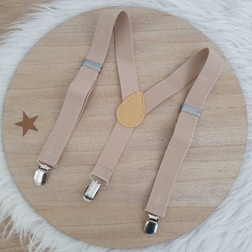 BEIGE Baby / Kids Adjustable Suspenders