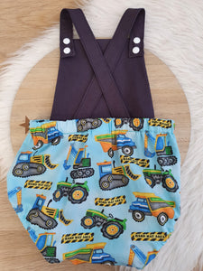 CONSTRUCTION - Size 2 Romper Baby / Toddler / Child Outfit