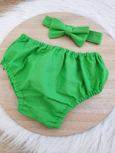 GREEN - Boys Cake Smash Outfit, First Birthday Outfit, Size 0, 2 Piece Set
