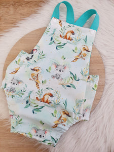 FURRY FRIENDS - Size 2 Romper Baby / Toddler / Child Outfit