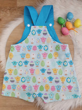 EASTER - Size 1 Baby Overalls, Short Leg Romper, Baby Easter Outfit