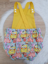 SPONGEBOB print - Size 2 Romper Baby / Toddler / Child Outfit