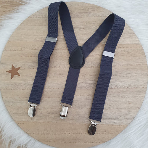 CHARCOAL Baby / Kids Adjustable Suspenders