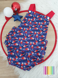 SANTA JAWS Christmas Romper - Size 00 Baby Christmas Outfit