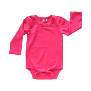Dark Pink Long Sleeve Bodysuit size 1/2