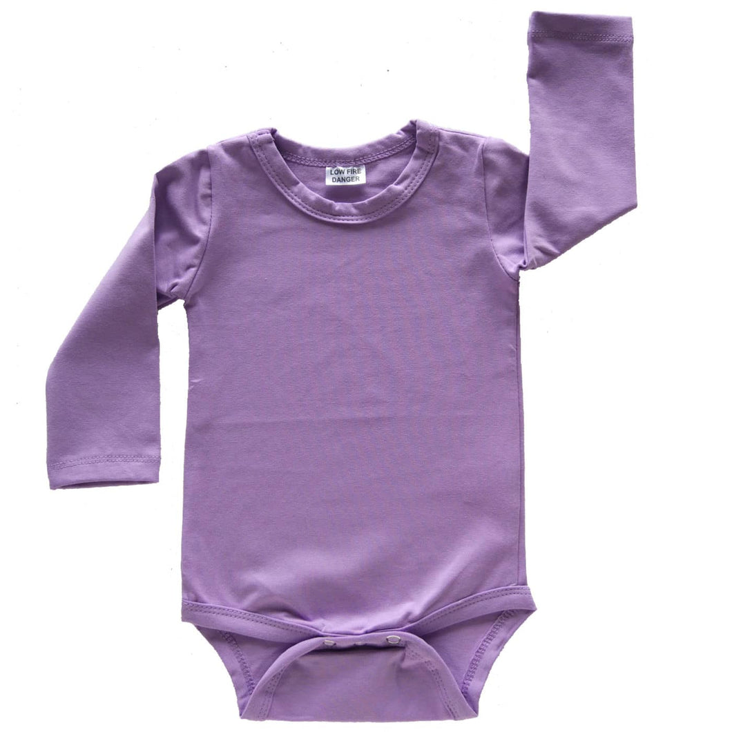 Lavender Long Sleeve Bodysuit size 1/2
