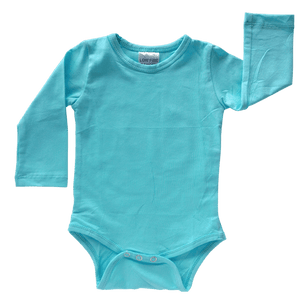 Light Blue Long Sleeve Bodysuit size 1/2
