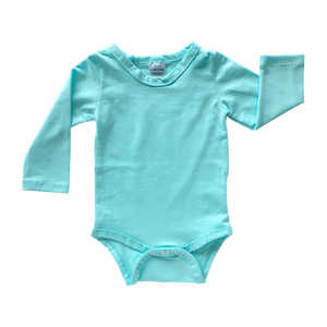 Tiffany Blue Long Sleeve Bodysuit size 1/2