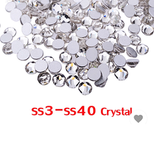SS3 Nail Art Rhinestones Crystal Clear Rhinestones for Nails - Crystal