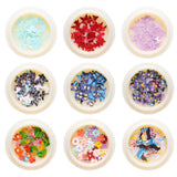 3D Butterfly Gold Silver Flakes Holography Buom dap bot 50 pieces Nails Mirror Sequins Paillette for Nail Art Decoration