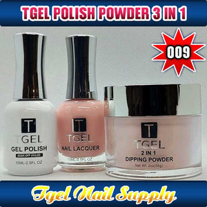 TGEL 3in1 Gel Polish + Nail Lacquer + Dipping Powder #009