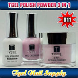 TGEL 3in1 Gel Polish + Nail Lacquer + Dipping Powder #011