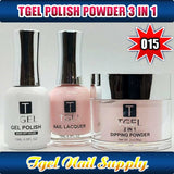 TGEL 3in1 Gel Polish + Nail Lacquer + Dipping Powder #015
