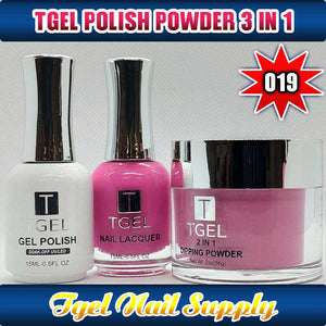 TGEL 3in1 Gel Polish + Nail Lacquer + Dipping Powder #019