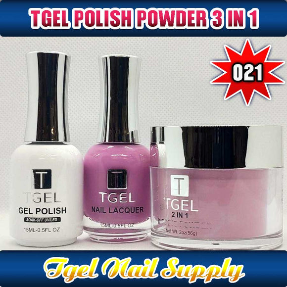 TGEL 3in1 Gel Polish + Nail Lacquer + Dipping Powder #021