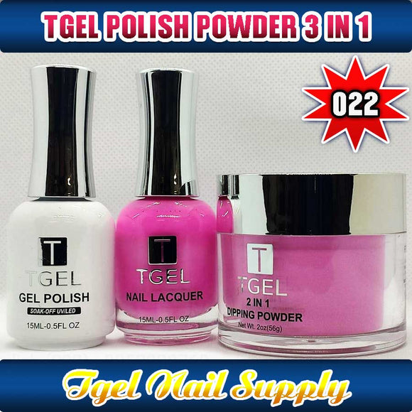 TGEL 3in1 Gel Polish + Nail Lacquer + Dipping Powder #022