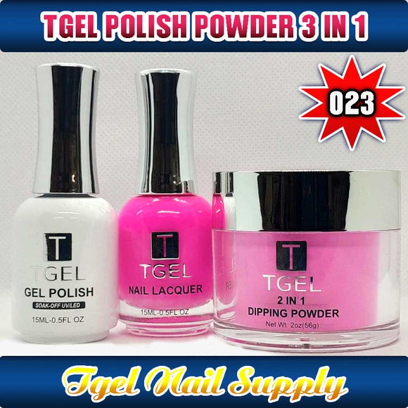 TGEL 3in1 Gel Polish + Nail Lacquer + Dipping Powder #023