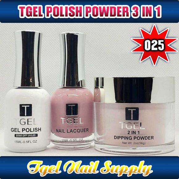 TGEL 3in1 Gel Polish + Nail Lacquer + Dipping Powder #025