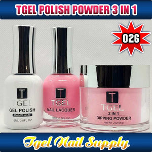 TGEL 3in1 Gel Polish + Nail Lacquer + Dipping Powder #026