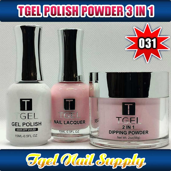 TGEL 3in1 Gel Polish + Nail Lacquer + Dipping Powder #031