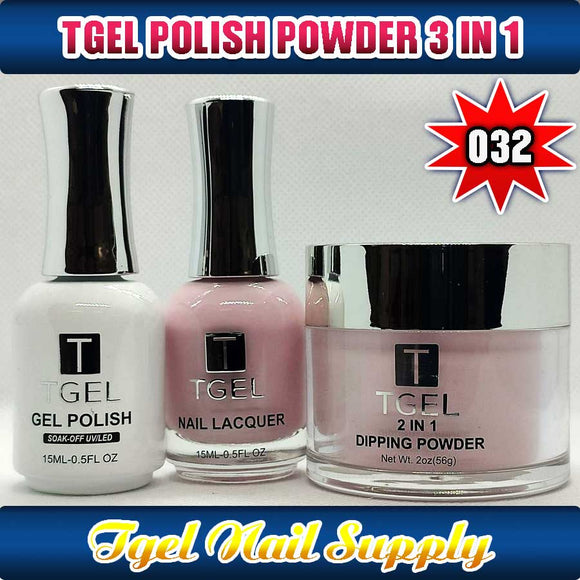 TGEL 3in1 Gel Polish + Nail Lacquer + Dipping Powder #032