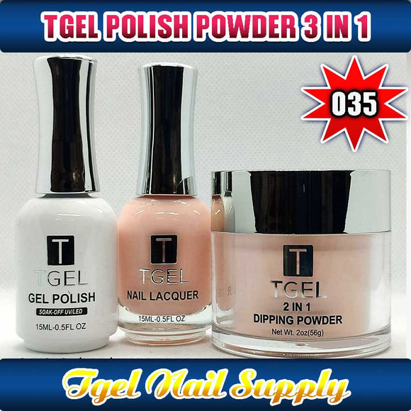 TGEL 3in1 Gel Polish + Nail Lacquer + Dipping Powder #035