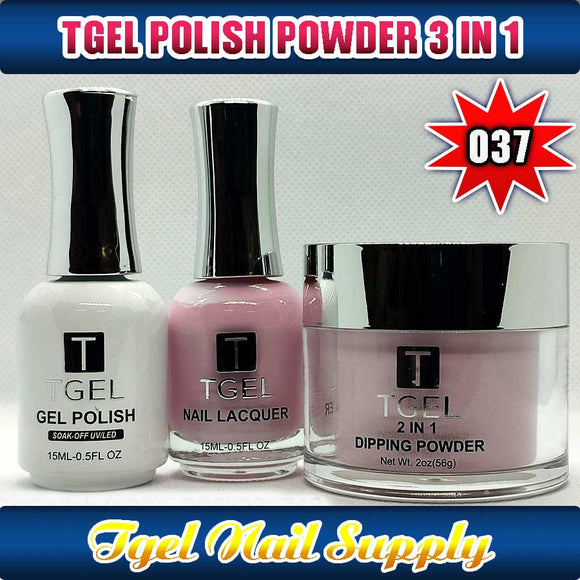 TGEL 3in1 Gel Polish + Nail Lacquer + Dipping Powder #037