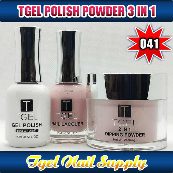 TGEL 3in1 Gel Polish + Nail Lacquer + Dipping Powder #041