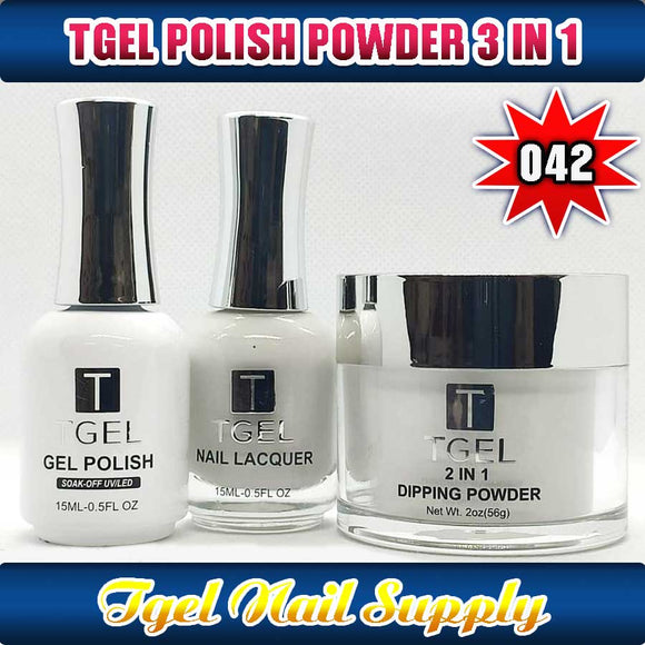 TGEL 3in1 Gel Polish + Nail Lacquer + Dipping Powder #042