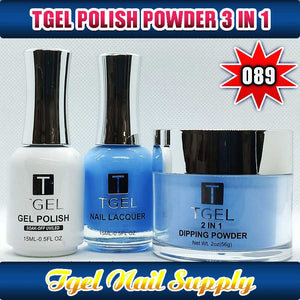 TGEL 3in1 Gel Polish + Nail Lacquer + Dipping Powder #089