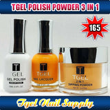 TGEL 3in1 Gel Polish + Nail Lacquer + Dipping Powder #165