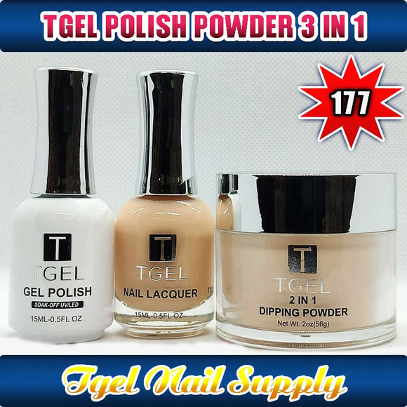 TGEL 3in1 Gel Polish + Nail Lacquer + Dipping Powder #177