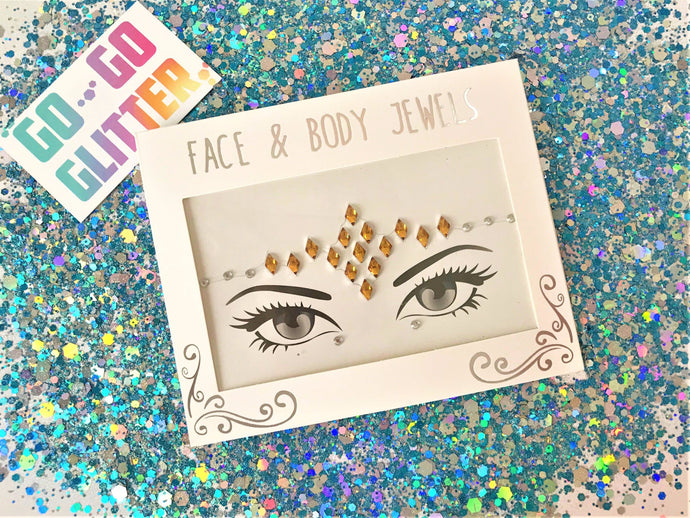 ✦ CLEOPATRA ✦ FACE JEWELS - Go-Go Glitter NZ Festival Glitter New Zealand GOGOGLITTER Go Go Glitter