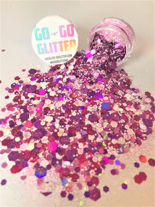 ✦ RASPBERRY RIPPLE ✦ FACE, BODY & HAIR GLITTER - Go-Go Glitter NZ Festival Glitter New Zealand GOGOGLITTER Go Go Glitter