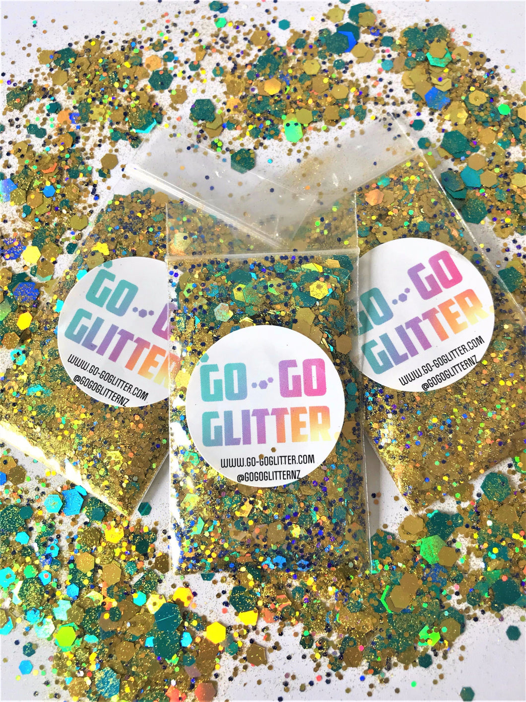 ✦ TREASURE CHEST ✦ FACE, BODY & HAIR GLITTER - Go-Go Glitter NZ Festival Glitter New Zealand GOGOGLITTER Go Go Glitter