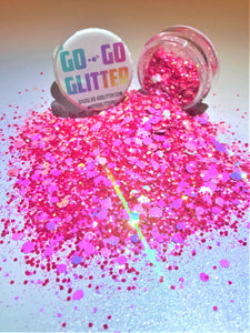 ✦ PRETTY IN PINK ✦ FACE, BODY & HAIR GLITTER - Go-Go Glitter NZ Festival Glitter New Zealand GOGOGLITTER Go Go Glitter