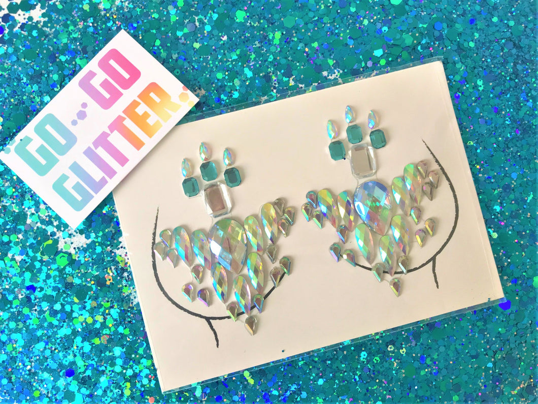 ✦ MERMAID BOOB JEWELS ✦ - Go-Go Glitter NZ Festival Glitter New Zealand GOGOGLITTER Go Go Glitter